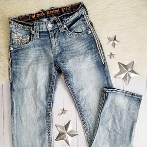 Rock Revival Owen slim boot jeans fade mens 30